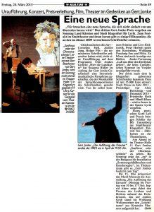 Eine neue Sprache | Sanftwut oder der Ohrenmaschinist | Kronen Zeitung | 2015-03-20