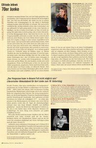 Elfriede Jelinek | 70er Jonke | Die Bruecke | 173 / 174 | 2016-02-06