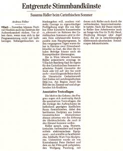 Entgrenzte Stimmbandkuenste | Der Standard | 2014-07-23
