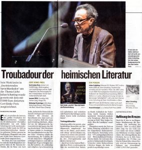 Troubadour der heimischen Literatur | Kleine Zeitung | 2015-03-23
