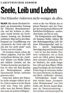 Seele, Leib und Leben | Kleine Zeitung | 2014-07-22