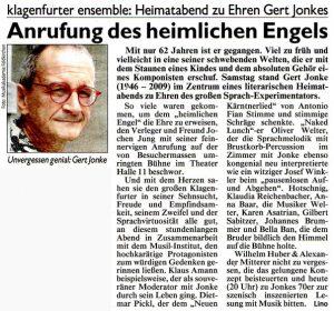 Anrufung des heimlichen Engels | Kronen Zeitung | 2016-02-08