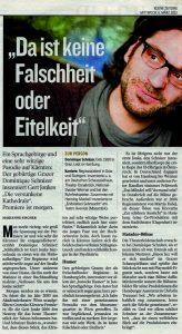 Da ist keine Falschheit oder Eitelkeit | Kleine Zeitung | 2013-03-06