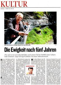 Egyd Gstaettner | Die Ewigkeit nach 5 Jahren | Kleine Zeitung | 2014-01-04