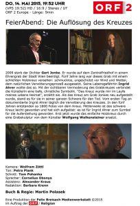 FeierAbend | Die Auflösung des Kreuzes | ORF | 2015-05-14