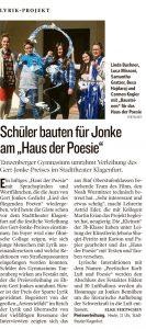 Lyrikprojekt | Schüler bauten für Jonke am Haus der Poesie | Kleine Zeitung | 2015-03-22