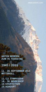 Todestag ANTON WEBERN | kofomi | 2015-09-15 | Flyer Seite 1