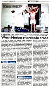 Wenn Morbus ritardando droht | Kritik zu Die versunkene Kathedrale | Kronen Zeitung | 2013-03-09
