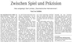 Zwischen Spiel und Präzision | Neuauflage Geometrischer Heimatroman | Wiener Zeitung | 2016-06-11